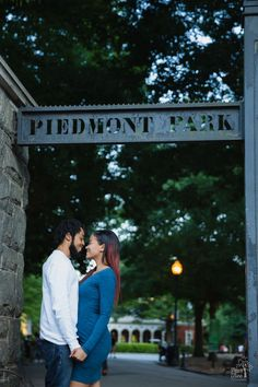 Piedmont Park Atlanta Engagement Session - Angela + Duran ENGAGED!
