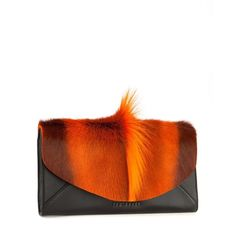 Ted Baker MOTI - Bold envelope clutch ($295) ❤ liked on Polyvore featuring bags, handbags, clutches, purses, bolsa, brt orange, leather envelope clutch, leather purses, leather handbags and orange leather purse