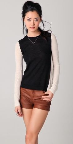 A.L.C. Back Block Sweater - StyleSays