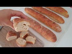 Gyors kenyér recept tasakban! Többé nem vásárol kenyeret! Hihetetlenül JÓ! # 331 - YouTube Turkish Kitchen, Quick Bread Recipes, Sweet Bread, Bread Baking, Hot Dog Buns, Bakery, Rolls, Sachets, Cooking