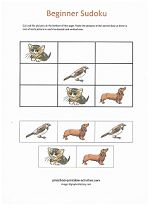 Easy Beginner Sudoku Puzzles for Kids! A great way to teach logical thinking skills!