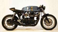 Triumph Bonneville Cafe Racer - Sparks Motorcycles - RocketGarage