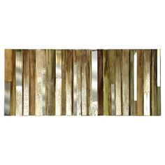 Canvas wall art with wood and glass accents.    Product: Wall decor   Construction Material: Pinewood, MDF, and...