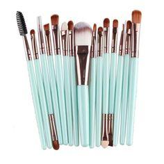 Barato MAANGE 15 pcs Makeup Brushes Set Professional Foundation Pó Esponja Da Sombra Lip Escova Kits de Maquiagem, Compro Qualidade Escovas & Ferramentas diretamente de fornecedores da China:                                        Grátis