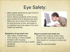The eye safety