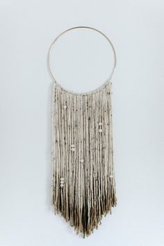 Gold Dipped macrame white yarn wall hanging with by KristianIrey                                                                                                                                                                                 More