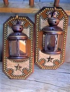 Western Wall Sconces w/ Tea Light Lantern - Your Western Decor