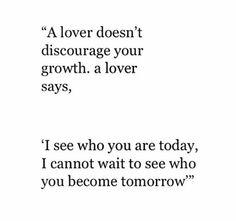Lover encourages u