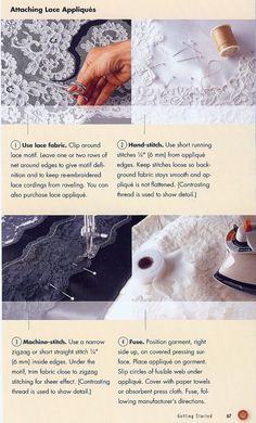 How to sew lace on fabric.