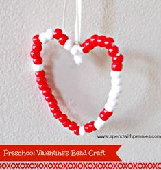 Preschool Valentines Craft!  Works on fine motor skills, sorting, counting and patterns!