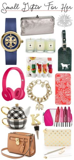 Gift Guide | Small Gifts For Her (at various price points)