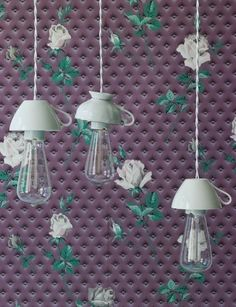 Cómo hacer lámparas originales con tazas de café