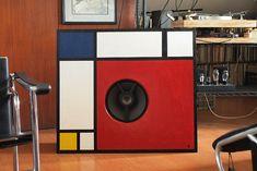 Mondrian inspired open baffle   Flickr - Photo Sharing!