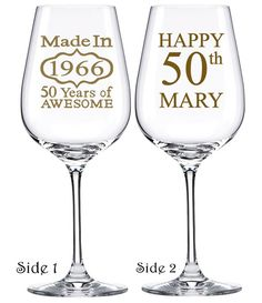 50th Birthday Gles Wine Gl Gift Ideas By Personalizedgiftsus Favors