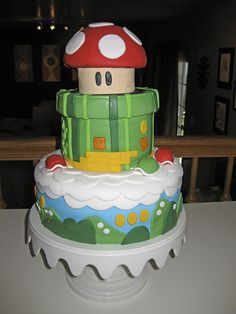 Fondant Cake: Mario