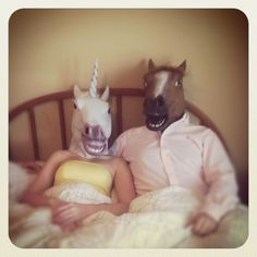 There are hundreds of customer images for this stupid horse-head mask. Brilliant.