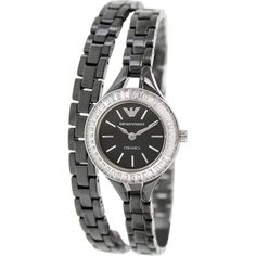 Beautiful Emporio Armani Watches Women Armani Watches, Emporio Armani, Quartz Watch, Bracelet Watch, Ceramics, Classic, Beautiful, Black, Ceramica