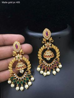 Order what's app 7995736811 - Gift for women and girls, wedding Jewelry Design Earrings, Gold Earrings Designs, Ear Jewelry, Trendy Jewelry, Jewelery, Fashion Jewelry, Gold Jewellery, Piercings, Jewelry Patterns