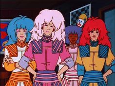 The time she wore a boss-as-hell shoulder pad ensemble. | 27 Times Jem's Outfits Were Truly, Truly, Truly Outrageous