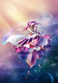 crystal diancie ecat highres mega_diancie no_humans pokemon pokemon_(game) pokemon_xy smile solo