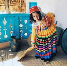 Very cute Talysh Girl in her beautiful traditional Dress.