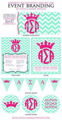 Jessica Marie Design Blog: Event Branding: Sorority Recruitment and Bid Day