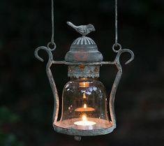 vintage style love bird candle lantern by the flower studio | notonthehighstreet.com
