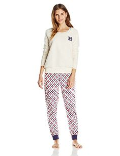 cool Tommy Hilfiger Women's Vintage Thermal Pajama set