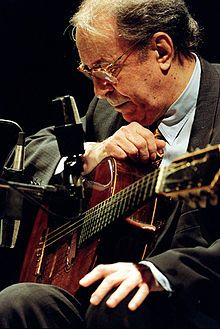 Joao Gilberto -  June 10, 1931 in Juazeiro, Bahia), is a Brazilian singer and guitarist. His seminal recordings, including many songs by Antônio Carlos Jobim and Vinicius de Moraes, established the new musical genre of Bossa nova in the late 1950s.