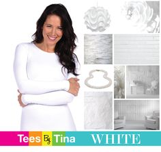 WHITE.  classic and clean. essential to every wardrobe!