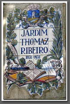 beautiful sign in azulejos