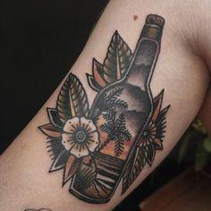"""1,929 tykkäystä, 7 kommenttia - Ibi Rothe (@ibirothe) Instagramissa: """"Autumn medicine. #classic_tattoos #real_traditional #besttradtattoos @besttradtattoos…"""""""