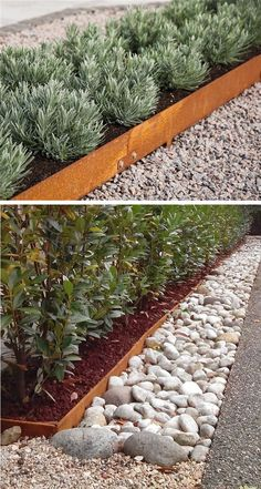 Corten Garden edging comes in several heights Large Backyard Landscaping, Driveway Landscaping, Backyard Garden Design, Modern Landscaping, Steel Garden Edging, Steel Landscape Edging, Metal Lawn Edging, Yard Edging, Steel Edging