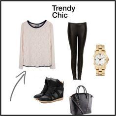 trendy chic look