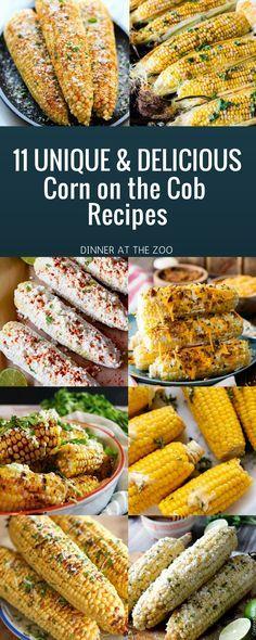 11 Delicious & Unique Corn on the Cob Recipes (Grilling Recipes Corn) Side Dish Recipes, Vegetable Recipes, Dinner Recipes, Dessert Recipes, Mexican Food Recipes, Vegetarian Recipes, Healthy Recipes, Corn Cob Recipes, Delicious Recipes