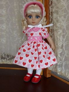 """Valentine Outfit & Shoes for Tonner's 10"""" Patsy Ann Estelle made by Apple"""