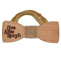 Wooden bow tie Live Love Laugh for positive person- Sackc... https://www.amazon.com/dp/B01DBYN5NA/ref=cm_sw_r_pi_dp_x_sNGKybYFW50SB