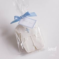 Baby Boy Christening Suit Cookies for christening or baptism