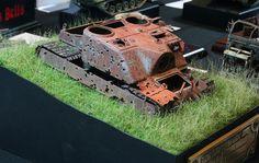 Tortoise (A39) wreck 1/35 Scale Model Diorama