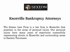 The attorneys at The Sexton Law Firm are well equipped and capable of handling cases or legal matters of all types. As a result of this, bankruptcy filing is now a lot more expensive with more documentation involved and a lot more obstacles were created for you to jump through.