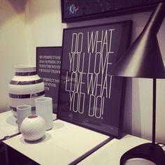 """Husk på """"Do what you love - love what you do"""". Brug ikke livet på noget unødigt - livet skal leves! http://bylux.dk/shop/frontpage.html #plakater #poster"""