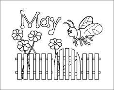 May printable month poster coloring sheet, parenting.leehansen.com