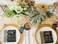 White & Gold New Year's Eve Table Inspiration