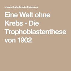 Eine Welt ohne Krebs - Die Trophoblastenthese von 1902