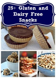 25+ gluten and dairy free snacks via NoBiggie.net roasted chick peas, 3 ingredient banana pudding, sweet potato chips