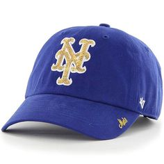 7465f44f9d1 Women s New York Mets  47 Royal Sparkle Clean Up Adjustable Hat