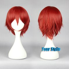 Assassination Classromm Karma Akabane Wig Cosplay Short Pixie Cut Wig Red Male Cosplay Wig Peruca Cosplay Perruque Synthetic