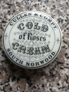 Cullen & Compy, South Norwood - cold cream of roses pot lid