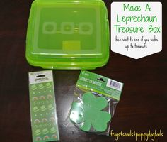 Leprechaun Treasure Box- St. patrick's day tradition. fun activity for the kids