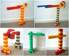different cranes lego duplo ideas Games For Toddlers, Craft Activities For Kids, Toddler Activities, Lego For Kids, Art For Kids, Lego Therapy, Diy Lego, Lego Construction, Lego Worlds
